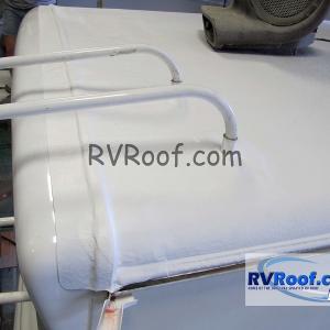 Final resprayed rv roof RV FlexArmor
